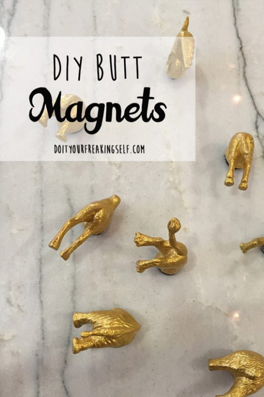Fun and quirky animal butt DIY Magnets! For anyone with a fridge or love of quirky home decor!