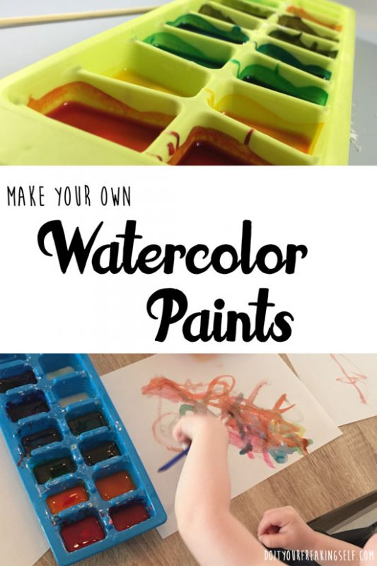 Make your own watercolor paints and teach your child about science at the same time. A fun and smart craft - Doityourfreakingself.com