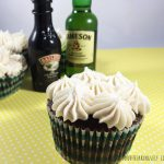 Tasty, acohol infused Irish Car Bomb Cupcakes. Perfect for any St. Patrick's Day get together!