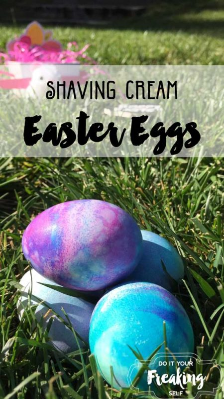 Shaving Cream Marbled Easter Eggs and toddler sensory play. Kids crafts and activities for under $20