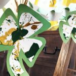 No Mess Splatter Painting - Shamrocks. Great for seasonal decorations and kids of all ages.