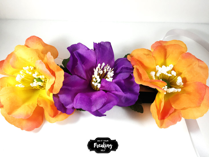 Easy DIY Flower Crown. Great for festival fashion, photography props, and dress up boxes. Make yours for under $5!