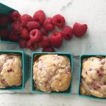 Ultra moist and dense Raspberry muffins made with greek yogurt and fresh raspberries. Delicious!
