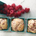 Ultra moist and dense Raspberry muffins made with greek yogurt and fresh raspberries. Delicious!