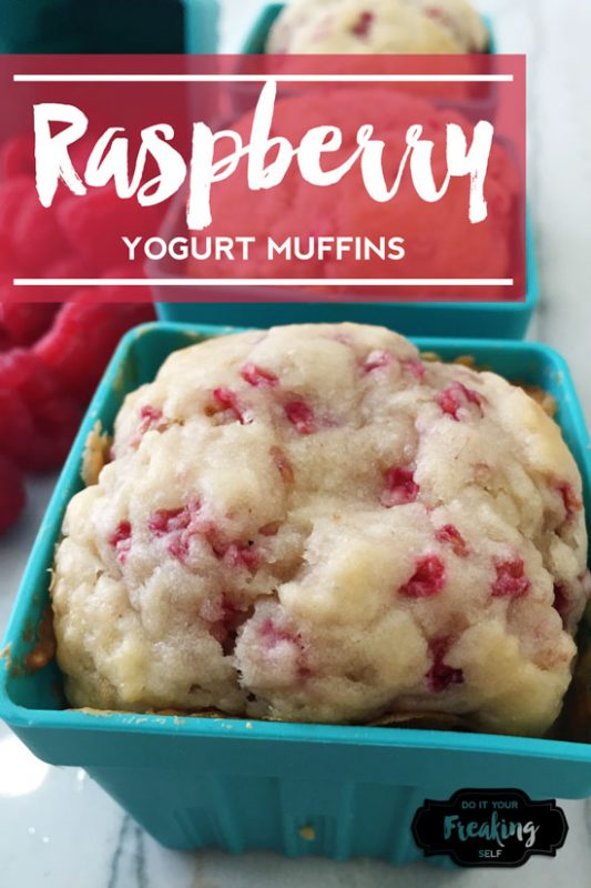 Ultra moist and dense Raspberry muffin recipe made with greek yogurt and fresh raspberries. Delicious!