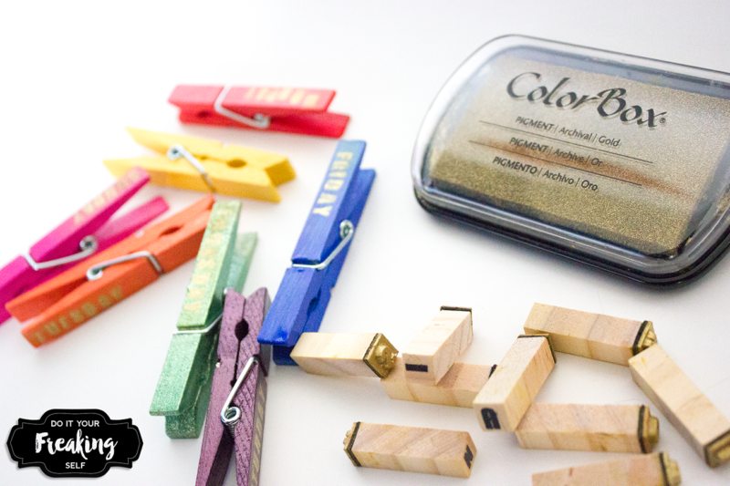 Day of the Week Clothes Pins - Make and use rainbow clips to organize your closet, school lunches and to do lists