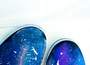 Make your own slip on DIY Galaxy shoes with this simple tutorial. Paint with a paintbrush for super easy set up and clean up.