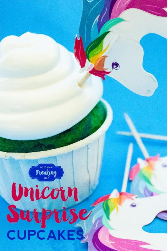 Make these fun and cute DIY Rainbow Unicorn Cupcakes with White Cloud Icing for your next kids party, unicorn appreciation day, or baby shower
