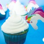Ultra cute and colorful rainbow unicorn cupcakes