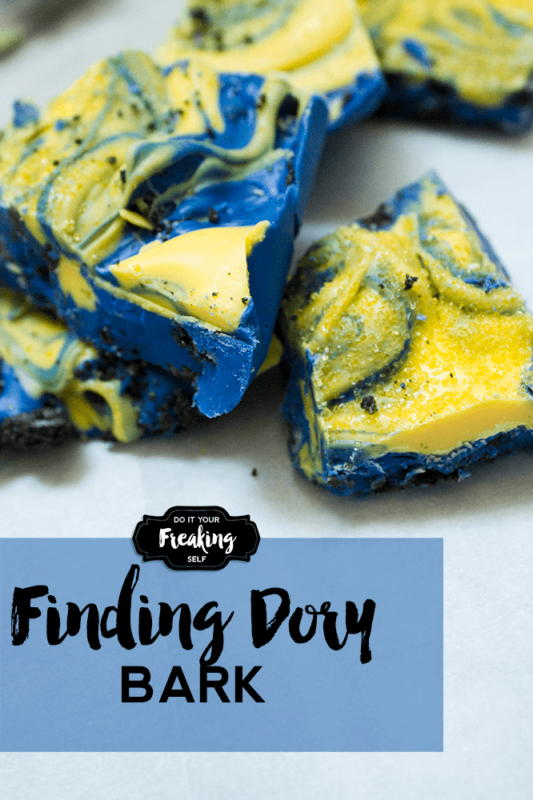 Disney Pixar's Finding Dory Bark for your next under the sea party. A fun project to do with kids or for a cute food table idea.