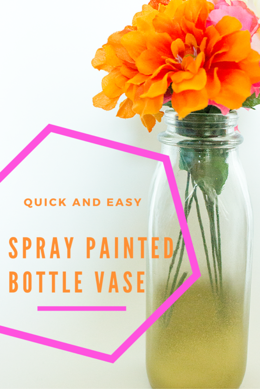 how to get a painted label off a glass bottle