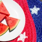 Simple and easy star stenciled placemats are a great addition to your next 4th of Juy, Memorial Day, or Team USA Olympics party!