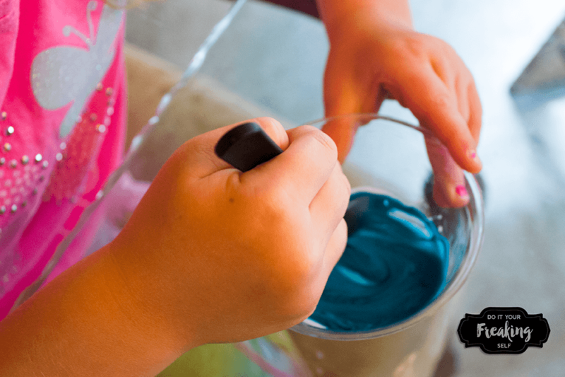 Make your own Foam Paint with shaving cream, school glue, and food coloring! Also called puffy paint, this 3 ingredient project is fun and engaging for kids