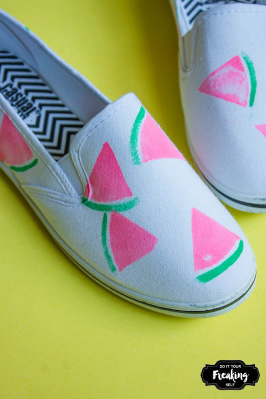 DIY Watermelon Shoes | Do It Your Freaking Self