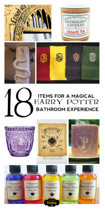 Enjoy a magical bathroom experience with these awesome 18 Harry Potter Bathroom Decor Ideas! Perfect for Muggles and Wizards alike!