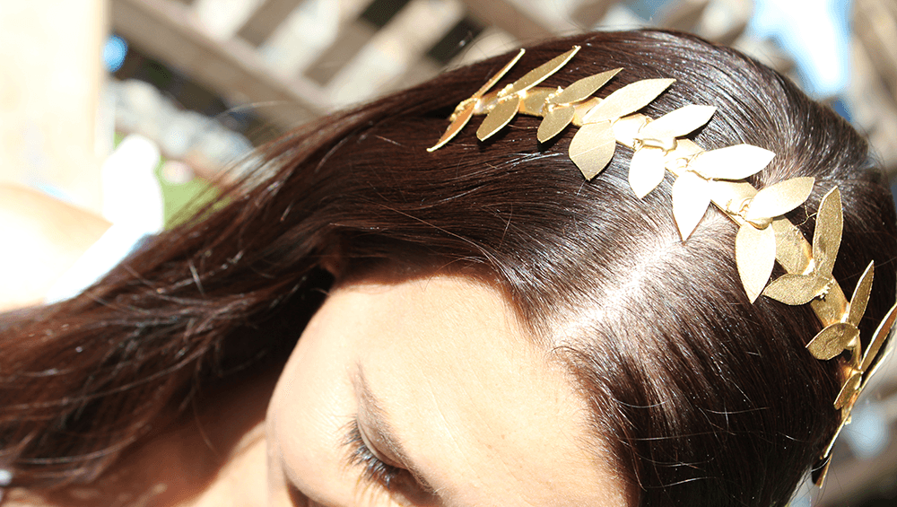 Unleash your inner goddess with a fun and simple greek headband.