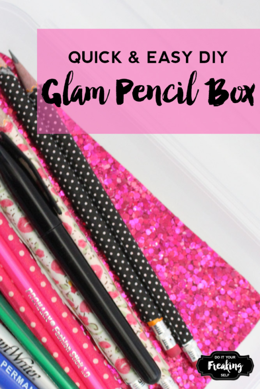 This tumblr inspired DIY Glam pencil box is perfect for that gitter lover in all of us. Dress up a boring clear pencil box for magic all day long!