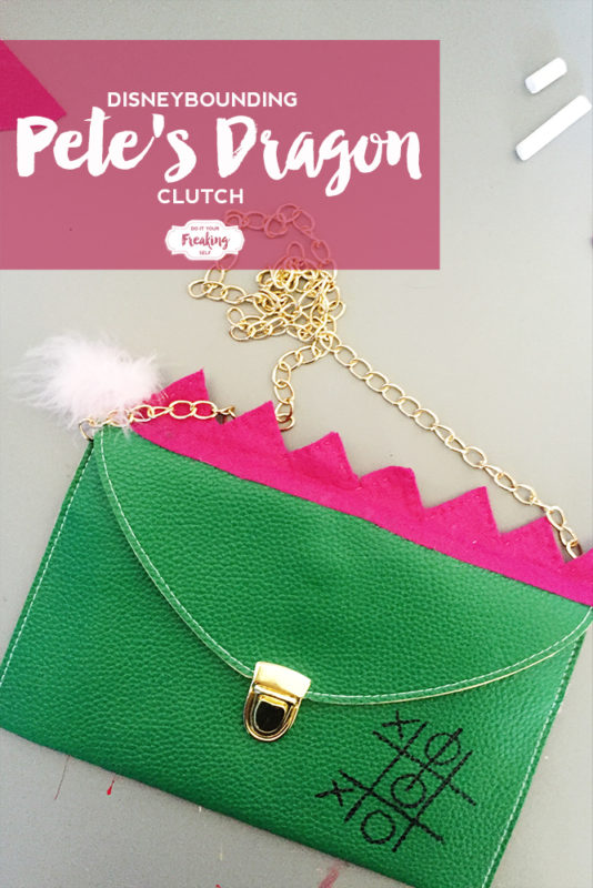 Celebrate Disney's Pete's Dragon with this Elliot inspired DIY Disneybounding Pete's Dragon Clutch! How cute!
