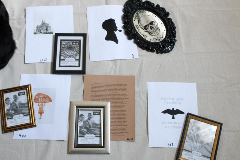 Celebrate Miss Peregrine's Home for Peculiar Children by decorating your home with this easy DIY Gallery Wall!
