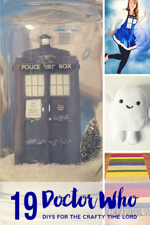 19 fun DIY projects for the discerning Time Lord. Doctor Who Crafts for all skill levels from home decor to gifts and accessories.