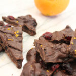Set your tastebuds alight with this spiced dark chocolate orange cranberry bark! Great for holiday parties, desserts, and gifts. | Dark Chocolate | Holiday Desserts | Orange Zest | Dried Fruit | Edible Gifts | Easy Bark | Do It Your Freaking Self