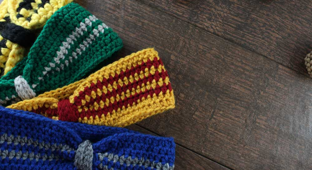 Do It Your Freaking Self Hogwarts House Crochet Ear Warmer Do It