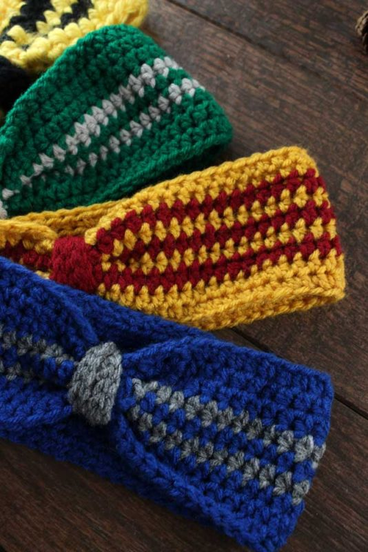 Do It Your Freaking Self - Hogwarts House Crochet Ear Warmer - Do It ...