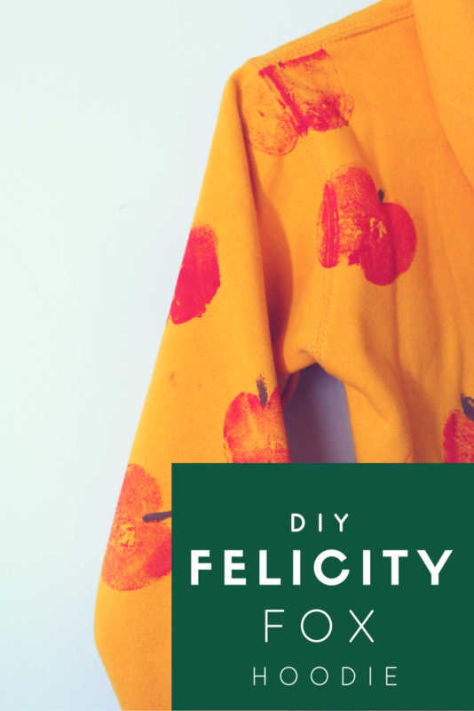 Create your own Felicity Fox inspired hoodie just in time for fall and Halloween!