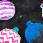Make some fun and colorful pumpkin plaster magnets! Easy to create and great for kids and adults of all ages! DIY | Fall Decor | Kids Craft | Painting | Colorful Pumpkins | Do It Your Freaking Self