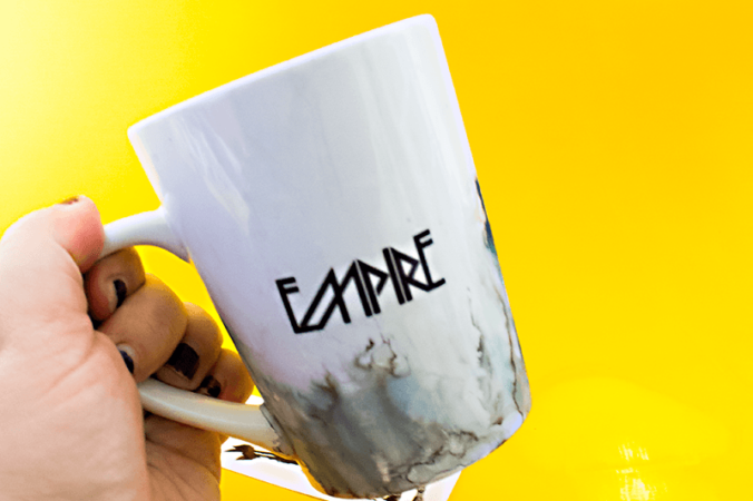Use temporary tattoos and alcohol inks to creat a one of a kind DIY Star Wars Mug. A fun and easy DIY for the coffee or tea loving Star Wars fan!