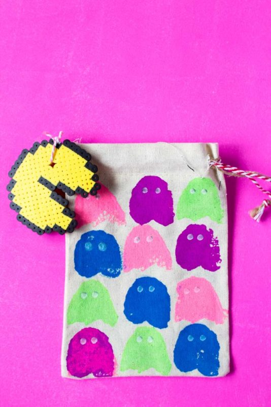 Gear up for some arcade themed fun with this Stamped PacMan DIY Gift Bag. A fun project to give as a gift or to hold all of your loot!
