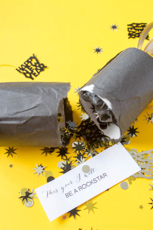 Have fun setting your New Years Resolutions this year with a DIY party cracker! - New Years Eve   Party Popper   confetti popper - Do It Your Freaking Self