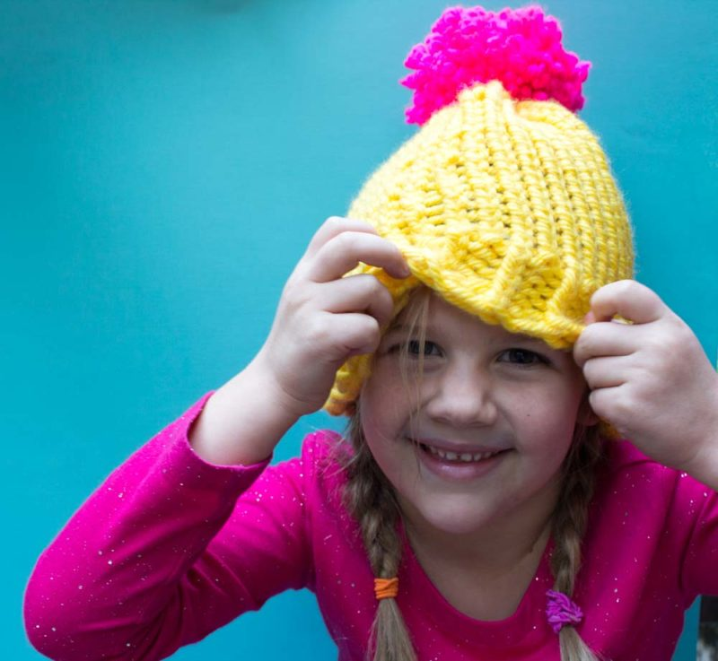 4129d073f577f Need a last minute hat  Create a simple loom knit hat in just a few