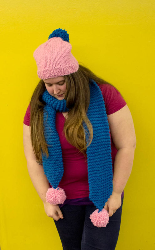 Do It Your Freaking Self Fun And Simple Chunky Knit Scarf Pattern