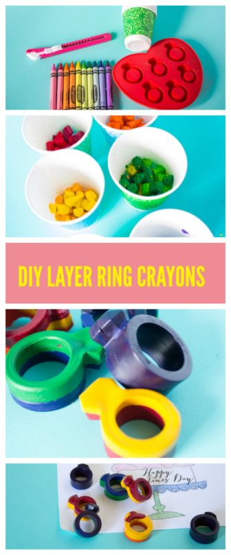 Put a ring on it! with some fun DIY layer ring crayons! Free printable Galentines coloring page and DIY layered crayons for your Galentines Day event. Parks and rec | Leslie Knope | Galentines Day Party | Activities | Printable | shape Crayons