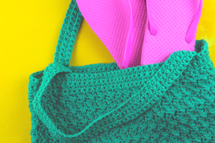 If you're looking for a quick and fashionable summer project, check out this beginner crochet beach bag using the suzette stitch.