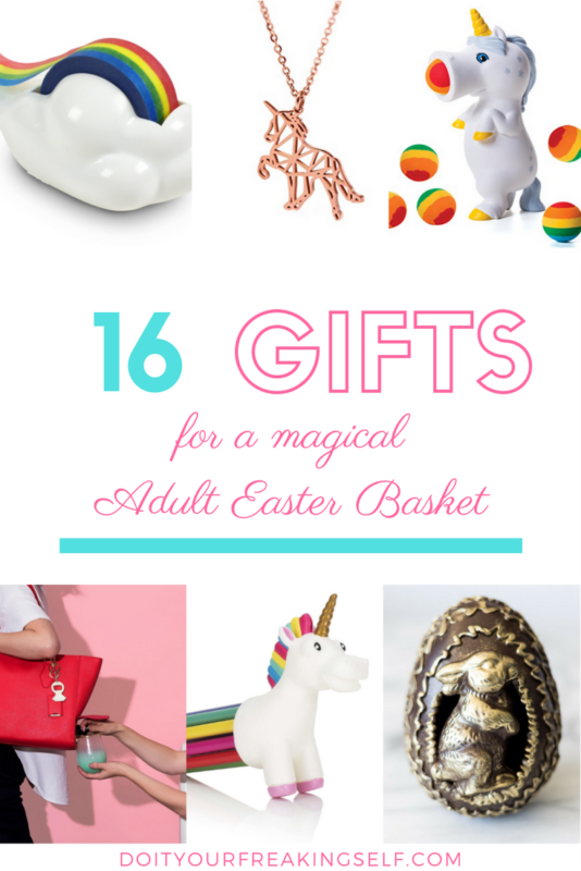 Bring back the magic of Easter morning with a Magical AF Adult Easter Basket for you or your bestie! Full of all things rainbow and unicorn and mythical goodness! | Adult Easter Basket | Unicorn Gifts | Spring Gifts