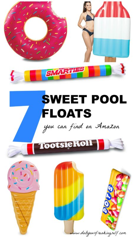 7 fun candy pool floats for your summer fun! - Ice Cream   Donut Pool float   Popsicle Pool Float - Do It Your Freaking Self