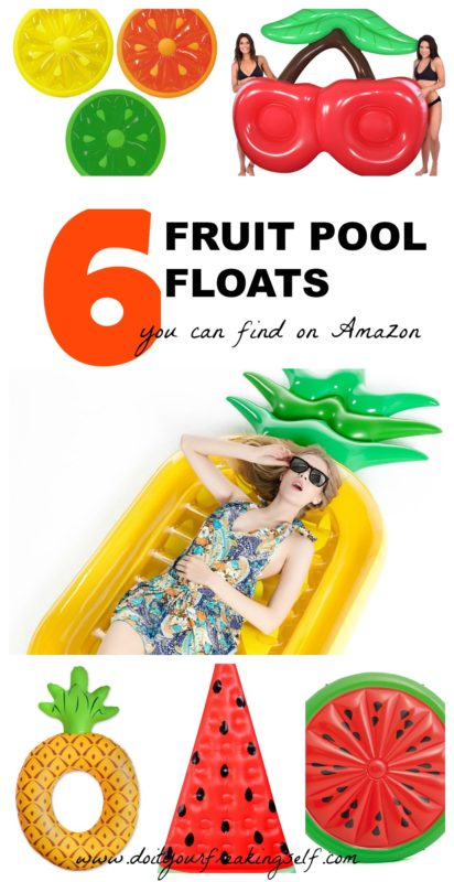 Get this season's hottest fruit inspired pool floats! - Pineapple float   Watermelon float   cherry pool float - Doityourfreakingself.com