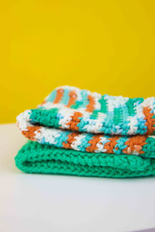 Spruce up your kitchen or give a useful gift with a bright and colorfulreusable crochet dishcloth! Agreat project for beginner to intermediate skills.