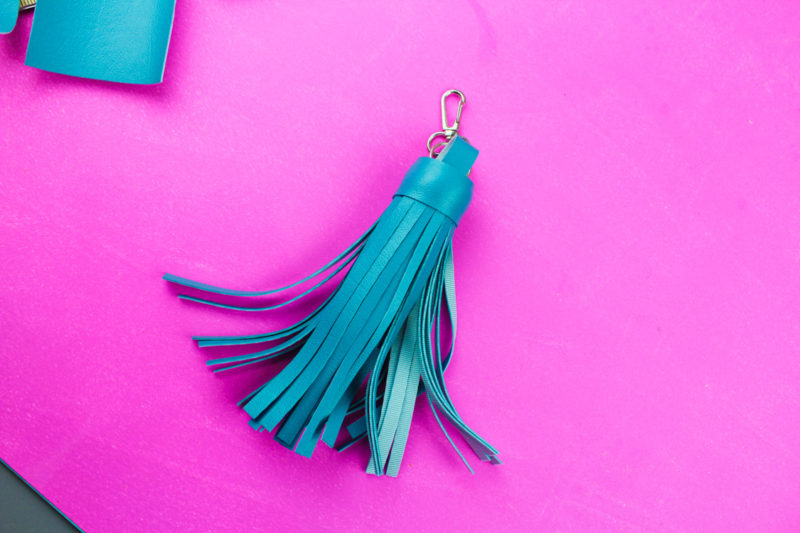 Charge your phone in style with a Leather Tassel Power Bank Keychain. Never be without your portable phone charger with this diy!