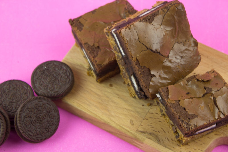 Treat yo'self to layers of delicious chocolate chip cookie, oreos and brownie batter! Indulge in some rich chocolate goodness with easy slutty brownies