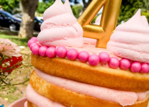 Create a simple yet impressive naked cake for the pinterest perfect tea party! Learn how to make a delicious tea party cake with this step by step tutorial.