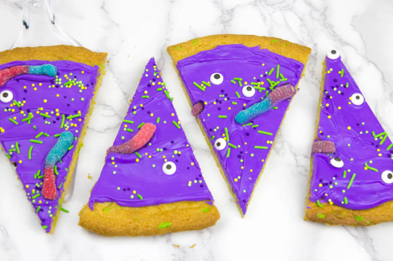 Cake Mix Monster Cookie cake - slices