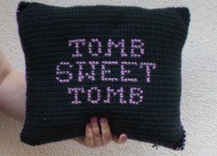 Crochet Haunted Mansion Pillow - Do It Your Freaking Self
