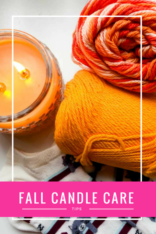 Get into the fall spirit, set the mood, and keep your candles lasting longer and burning better with these simple fall candle care tips! #falldecorating #candlecare #goldcanyon