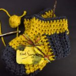 Cozy up with these crochet vintage Hufflepuff slippers! - Free Pattern #crochet #harrypotter #geekcrafts
