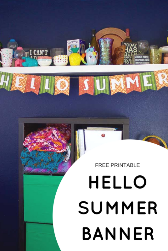 hello summer fruit banner - Pinterest - Free Printable