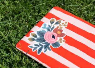 Protect your gear in style with this DIY Floral Laptop Case!