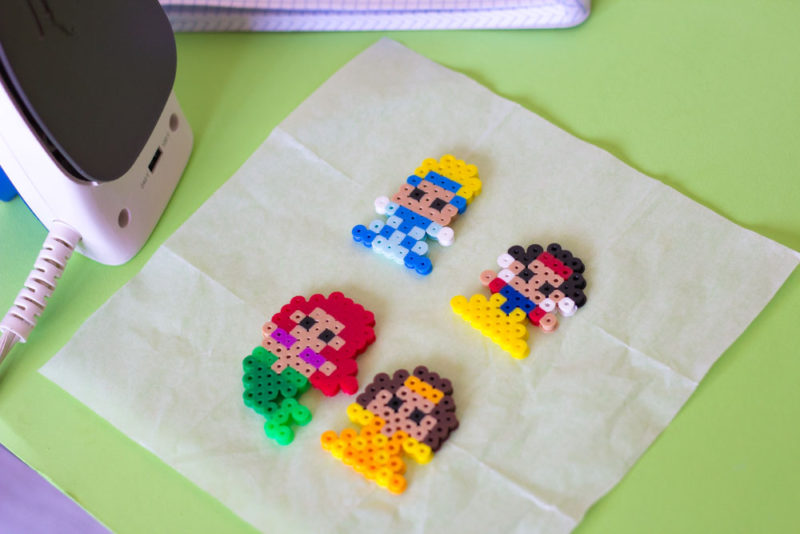 perler bead princess diy chip clips - iron